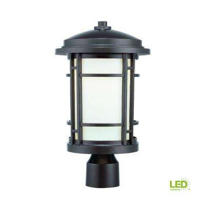 Barrister 9 in. Burnished Bronze LED Post Lantern