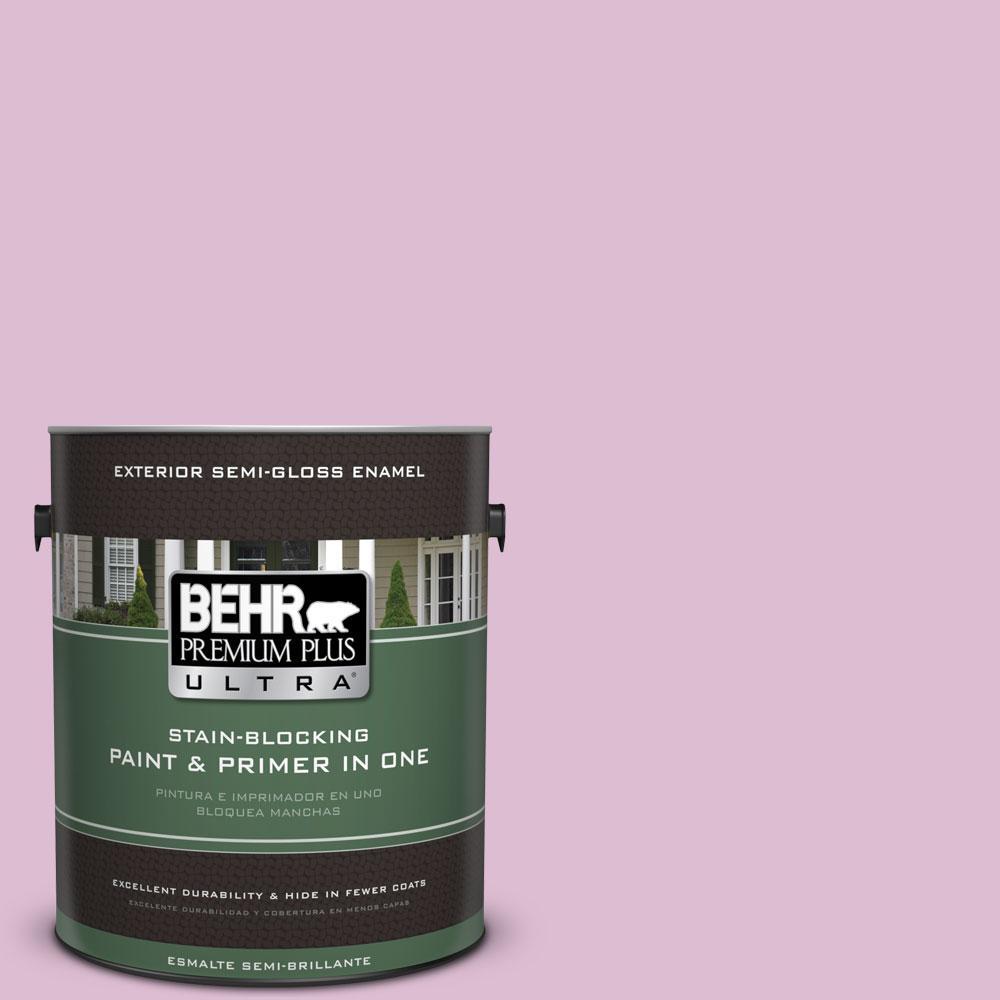 BEHR Premium Plus Ultra 1-gal. #690C-3 Delicate Bloom Semi-Gloss Enamel Exterior Paint