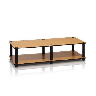 Just No Tools Light Cherry Wide Television Stand