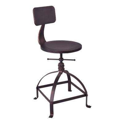 Aguirre Industrial Copper Adjustable Bar Stool