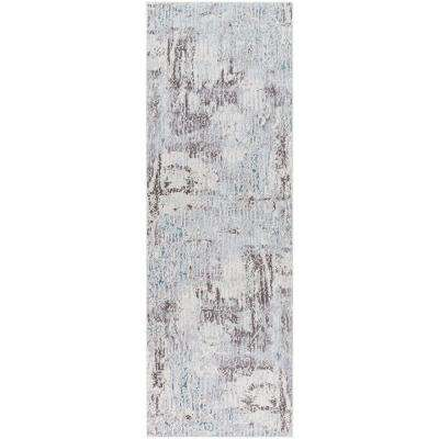 Iduna Gray 2 ft. 7 in. x 7 ft. 6 in. Abstract Runner Rug