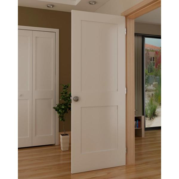 Kimberly Bay 30 In X 80 In White 2 Panel Shaker Solid Core Pine Interior Door Slab Dpsha2w30 The Home Depot