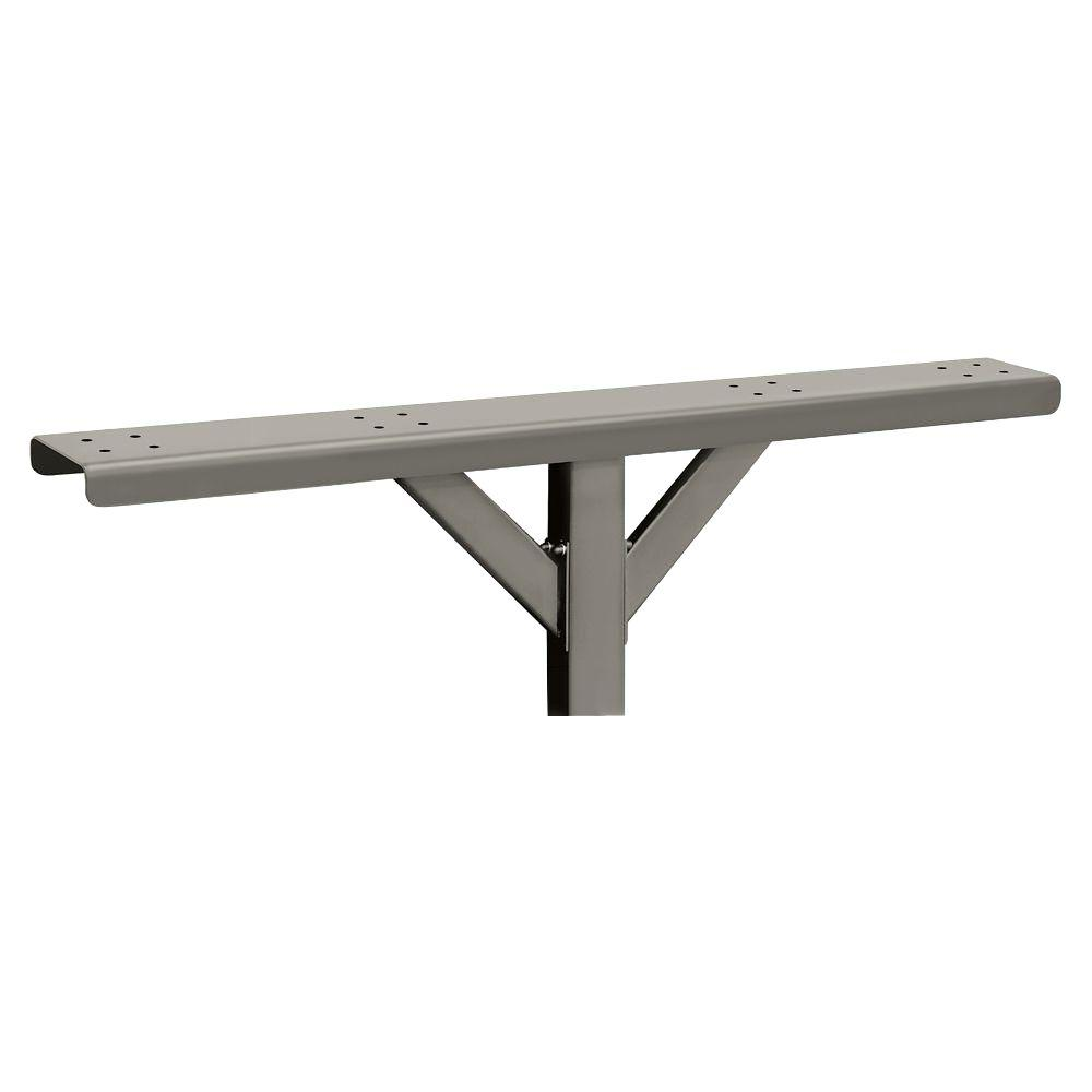 4-Wide Spreader with 2 Supporting Arms for Designer Roadside Mailboxes, Nickel