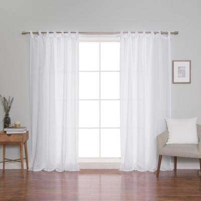French Linen Romantic Tie Top Curtain