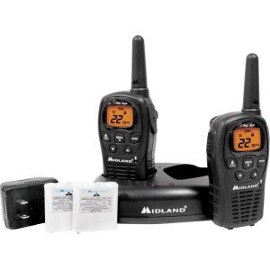 Midland X-TRA Talk GMRS 2-Way 24-Mile 22-Channel Radios (2-Pack) by Midland