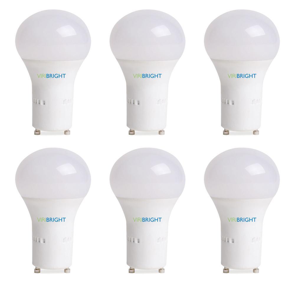 60-Watt Equivalent GU24, LED Light Bulb, Cool (Natural) White 4000K (6-Pack)
