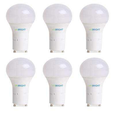 60-Watt Equivalent A19 GU24 LED Light Bulb, (2700K) Warm White (6-Pack)