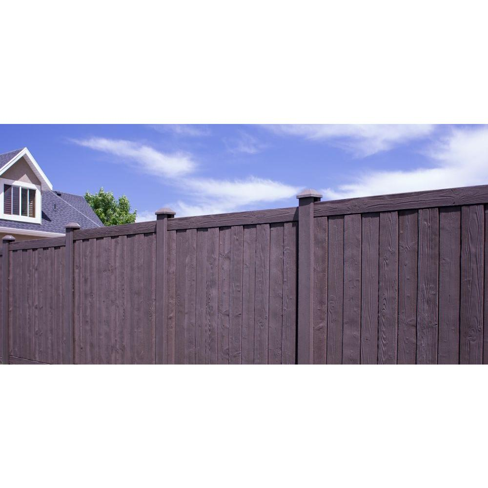 Simtek Ashland 6 Ft H X 6 Ft W Walnut Brown Composite Fence