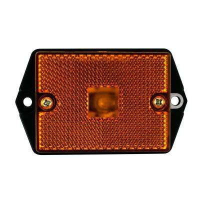 2-3/4 in. Ear Mount Rectangular Clearance in Amber