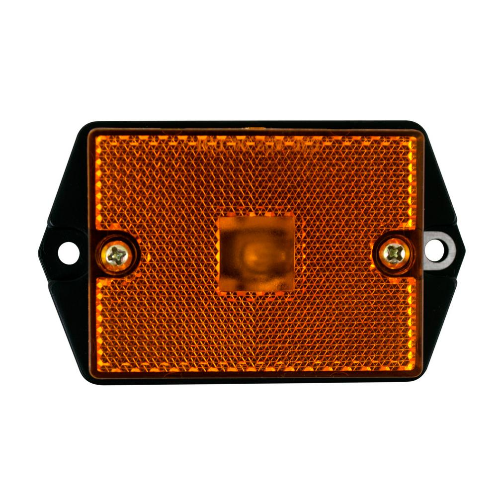 2-3/4 in. Ear Mount Rectangular Clearance, Amber