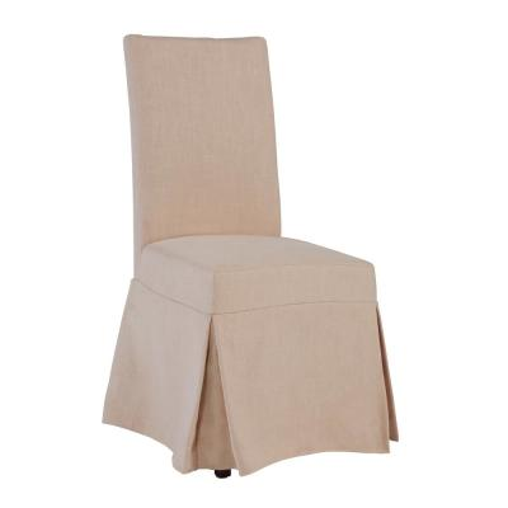 Charlotte Blush Polyester Slipcovered Chair (1 per Carton)