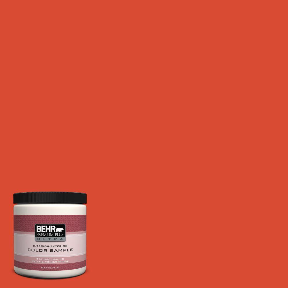 BEHR Premium Plus Ultra 8 oz. #190B-7 Fire Island Interior/Exterior Paint Sample