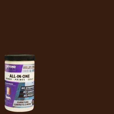 1 qt. Mocha Furniture, Cabinets and More Multi-Surface All-in-One Interior/Exterior Flat Refinishing Paint