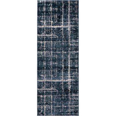 Uptown Collection by Jill Zarin™ Lexington Avenue Navy Blue 2' 2 x 6' 0 Runner Rug