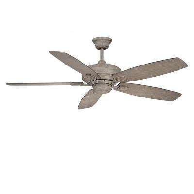 Linth 52 in. Aged Wood Indoor Ceiling Fan
