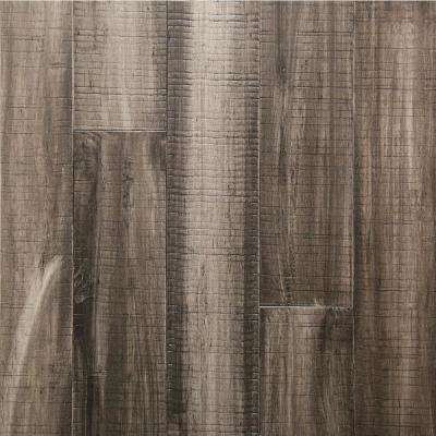 Take Home Sample - Charcoal Engineered Rigid Core Bamboo Flooring - 5.12 in. Wide x 6 in. Length
