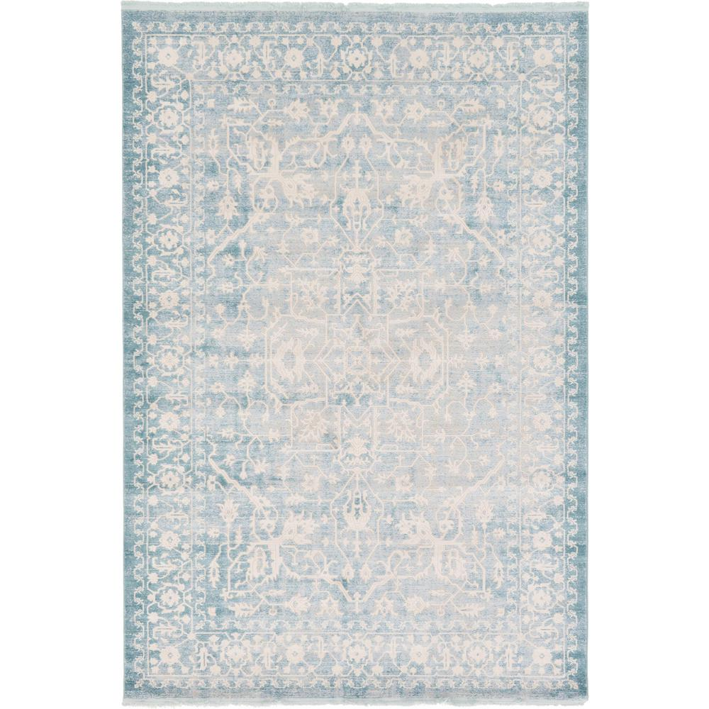 Unique Loom New Classical Olympia Blue 7' 0 x 10' 0 Area Rug
