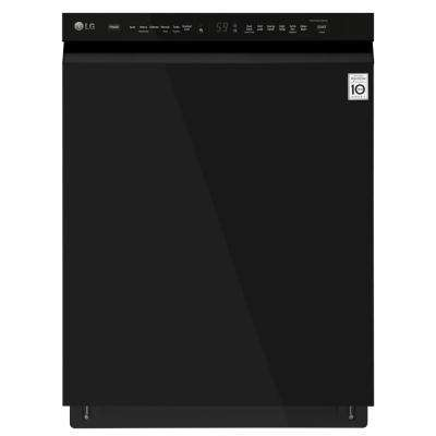 Front Control Built-In Tall Tub Dishwasher in Black with Stainless Steel Tub
