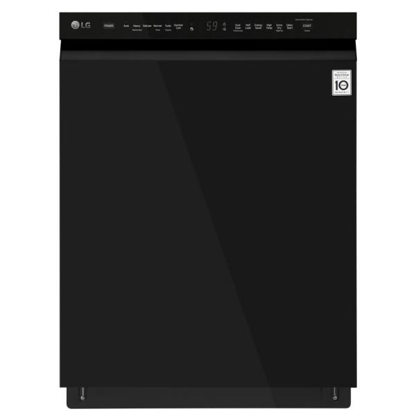 24 in. Front Control Built-In Tall Tub Dishwasher in Black with QuadWash and Stainless Steel Tub, 48 dBA