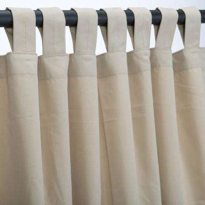 50 in. x 108 in. Outdoor Single Curtain with Tabs in Antique Beige