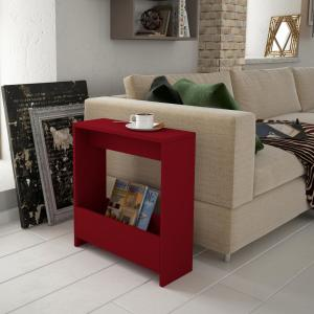 Selma Burgundy Modern Side Table