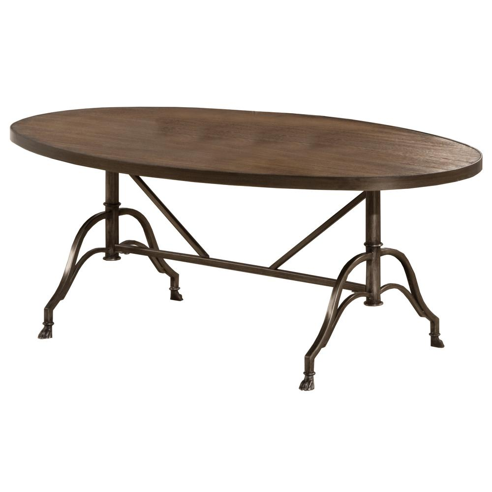 Hillsdale Furniture Clairview Distressed Brown Gray Coffee Table