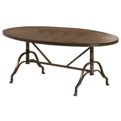 Clairview Distressed Brown Gray Coffee Table
