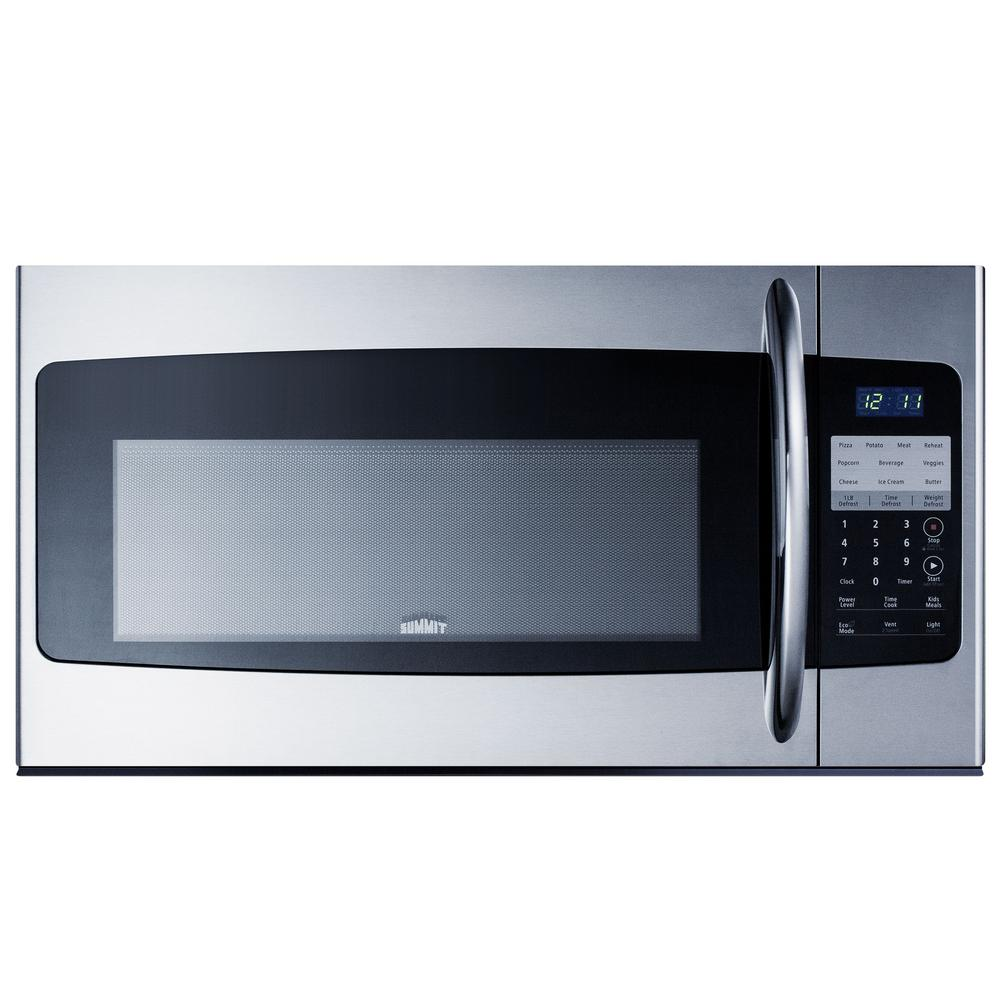 Summit Appliance 30 in. 1.6 cu. ft. Over the Range Microwave in Stainless Steel