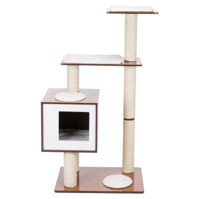Brown/White Avoca Wooden Scratching Post