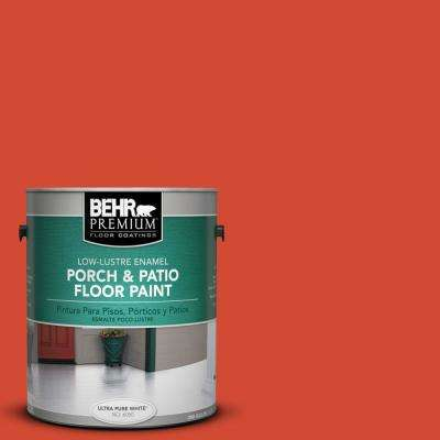 1 gal. #S-G-190 Red Hot Low-Lustre Porch and Patio Floor Paint