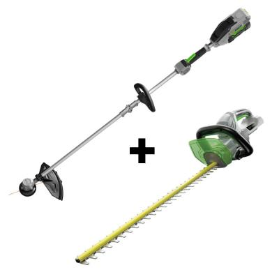 56V Lith-Ion Cordless 15 in. Electric String Trimmer & 24 in. Hedge Trimmer Combo (2-Tools) 2.5 Ah Battery and Charger