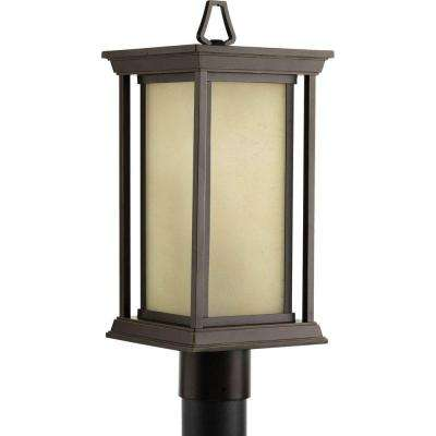 Endicott Collection 1-Light Antique Bronze Post Lantern