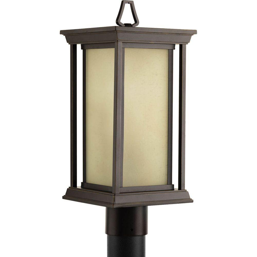 Endicott Collection 1-Light Antique Bronze Outdoor Post Lantern