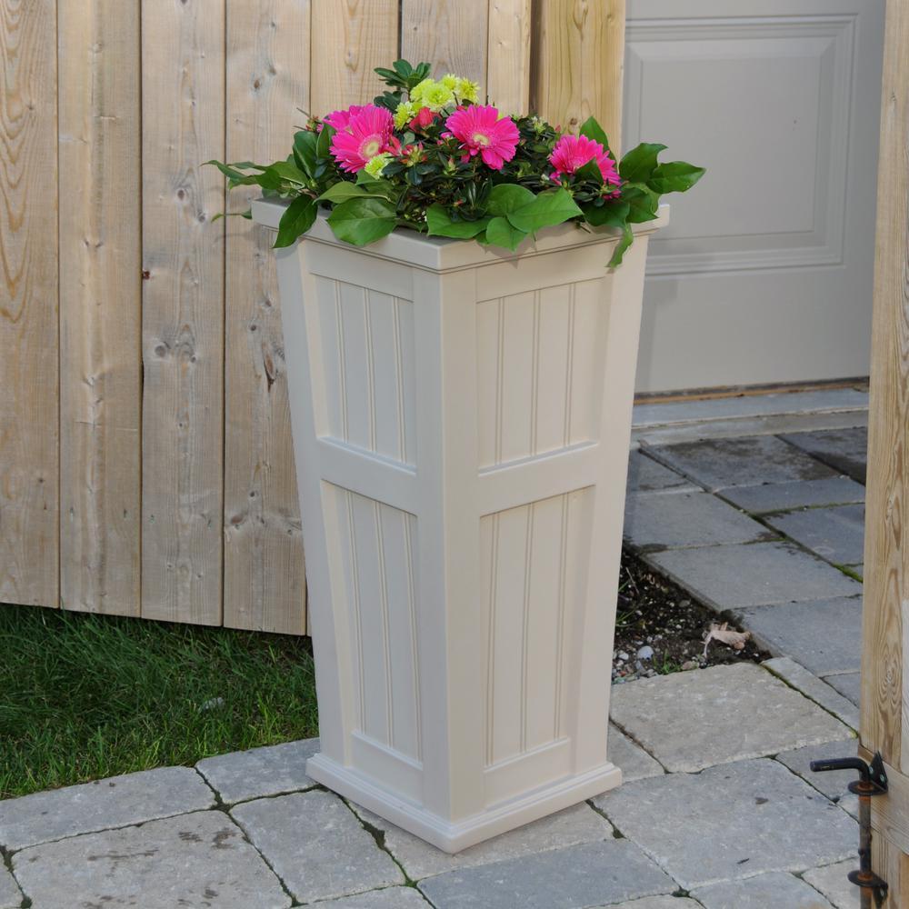 Square Clay Plastic Column Planter