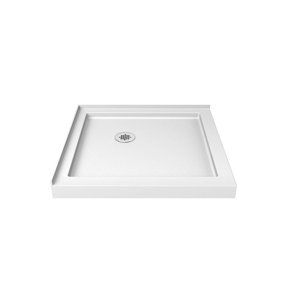 SlimLine 32 In. X 32 In. Double Threshold Shower Base In White