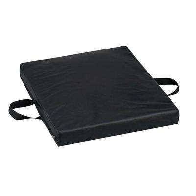 Gel/Foam Flotation Cushion with Leatherette in Black