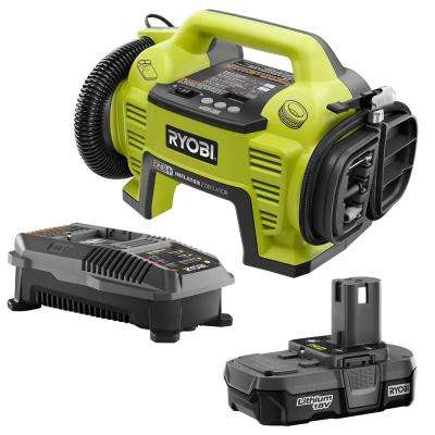 18-Volt ONE+ Lithium-Ion Cordless Dual Function Inflator/Deflator with (1) 1.3 Ah Battery and (1) 18-Volt Charger