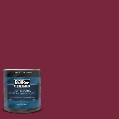 1 Qt Ul100 4 Cranberry Satin Enamel Exterior Paint And Primer In One
