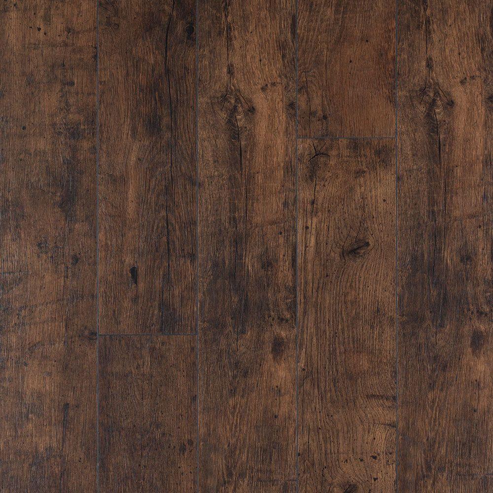 XP Rustic Espresso Oak Laminate Flooring - 5 in. x 7 in. Take Home Sample