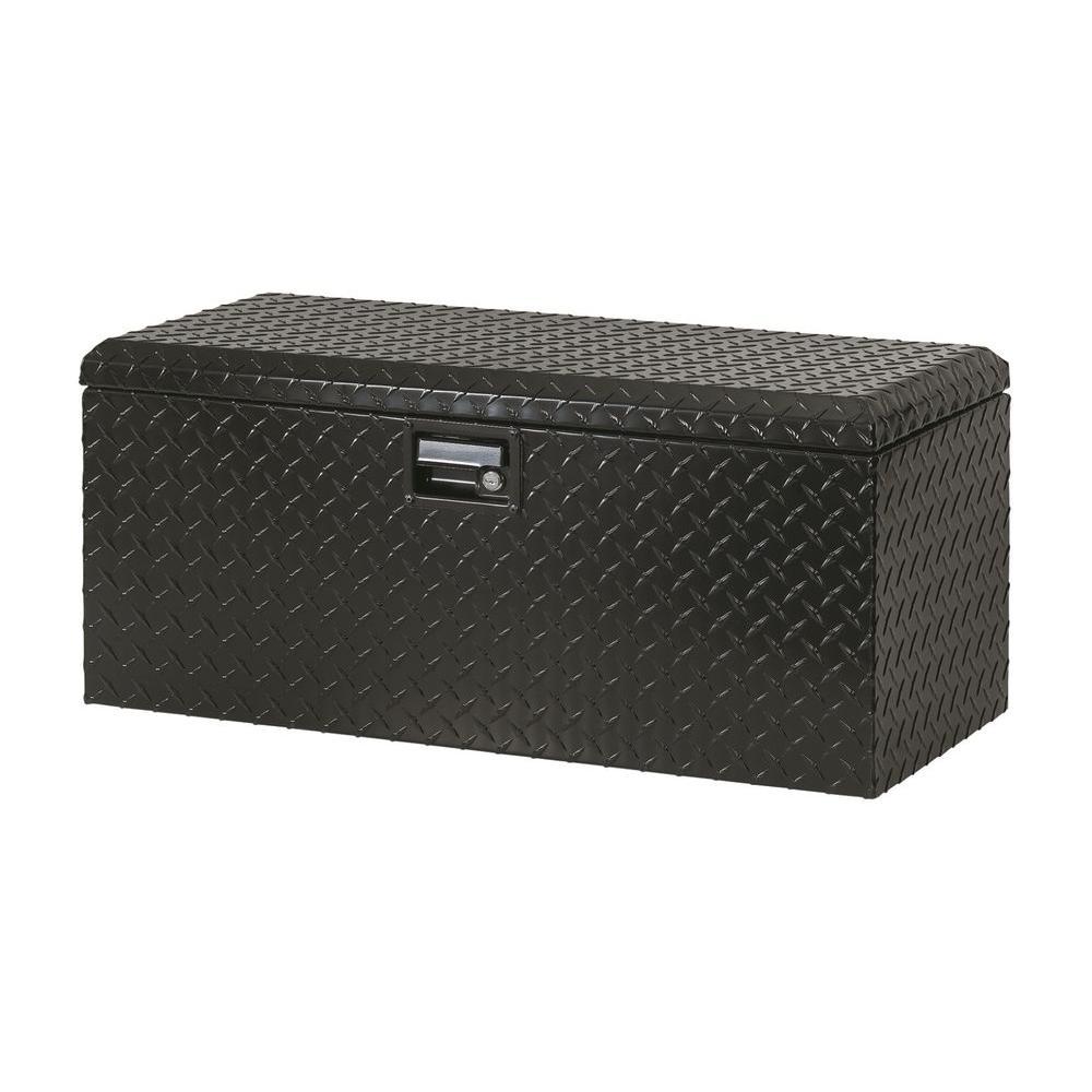 32 in. Aluminum ATV Storage Box, Black