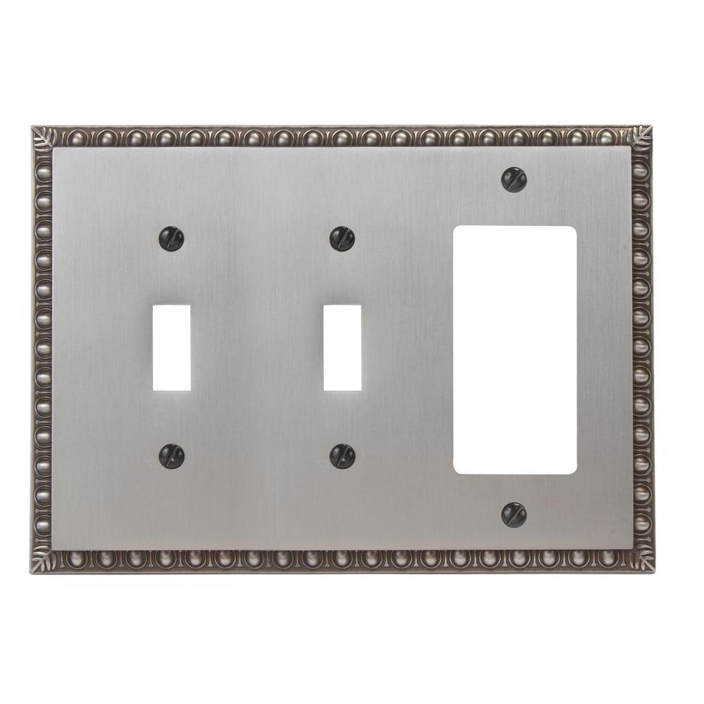 Renaissance 2 Toggle 1 Decora Wall Plate - Antique Nickel