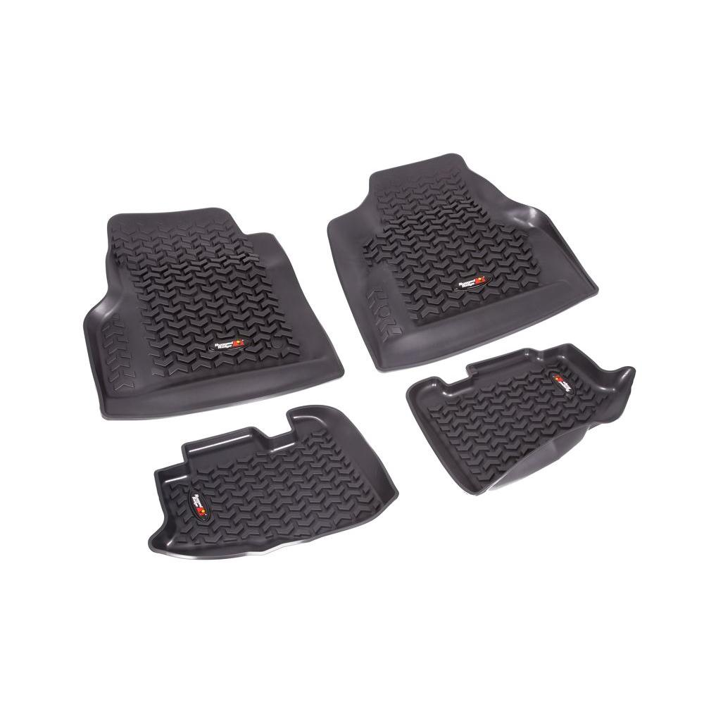 Rugged Ridge Floor Liner Set 4-Piece Black 1997-2006 Wrangler TJ and 2004-2006 LJ