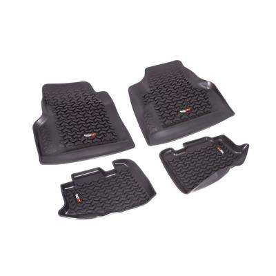 Floor Liner Set 4-Piece Black 1997-2006 Wrangler TJ and 2004-2006 LJ