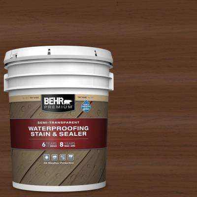 5 gal. #ST-135 Sable Semi-Transparent Waterproofing Exterior Wood Stain and Sealer