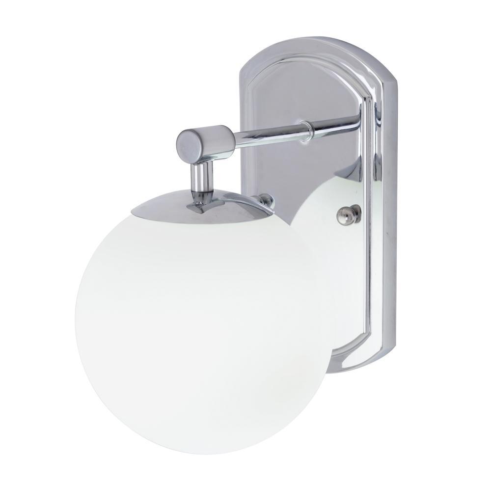 40-Watt Equivalence Chrome Integrated LED Globe Wall Sconce