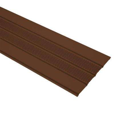 16 in. x 12 ft. Royal Brown Aluminum Center Vented Soffit