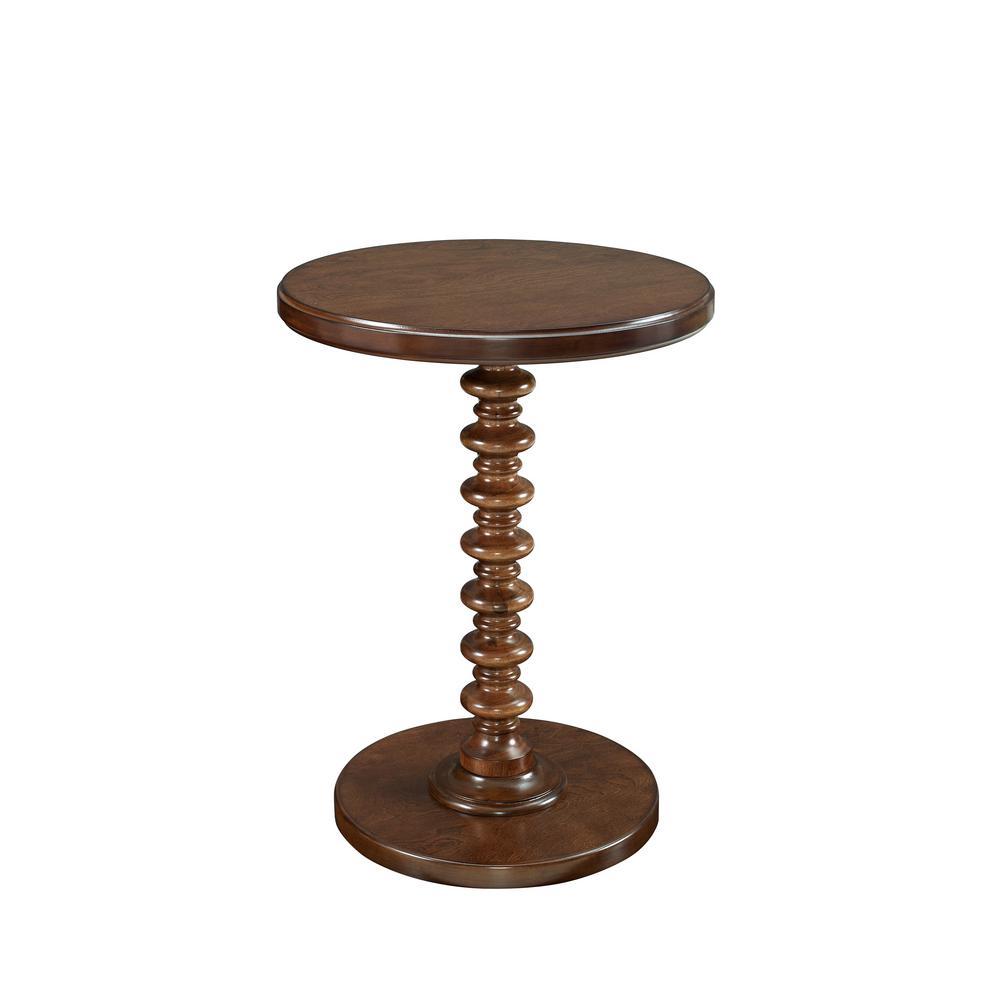 Hazelnut Round Spindle Table