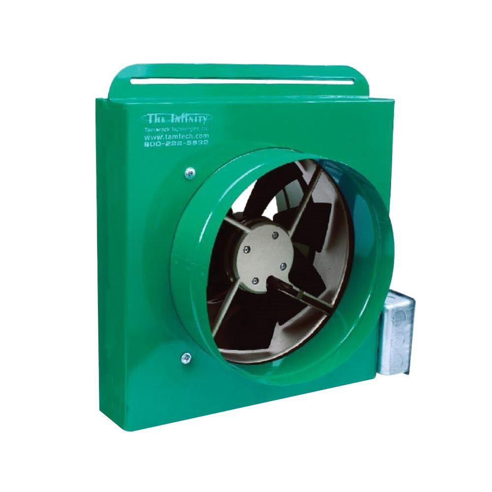 Battic Door 1100 CFM Ducted Whole House Fan with Make-up ...