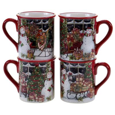 Snowman's Sleigh 16 oz. Mug (Set of 4)