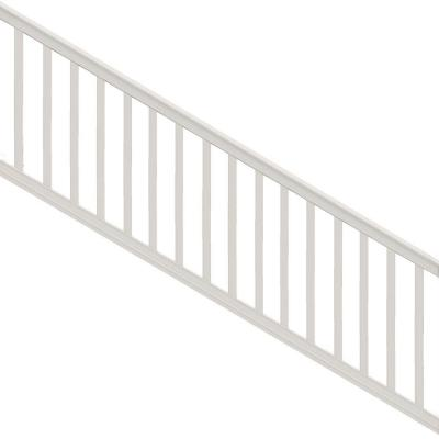 Premier Series 8 ft. x 36 in. White PolyComposite Stair Rail Kit with Square Balusters